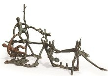 Bronze Sculpture titled 'Rhythm 10' by artist Mrinal Kanti