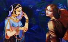 Figurative Oil Art Painting title Beauty Ii by artist Shrabani Maity