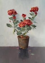 Still-life Oil Art Painting title Flowers 2 by artist Paresh Thukrul
