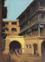 Cityscape Oil Art Painting title Girgaon by artist Paresh Thukrul
