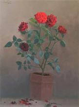 Still-life Oil Art Painting title Rose by artist Paresh Thukrul