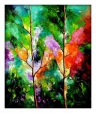 Season Of Love | Painting by artist Bahadur Singh | oil | Canvas