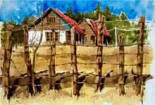 Aab Rang Kashmir 13 | Painting by artist Suhail Naqshbandi | watercolor | Paper