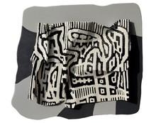Abstract Mixed-media Art Painting title Melting Metamorphosis 5 by artist Bhuwal Prasad