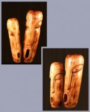 art, sculpture, wood, figurative