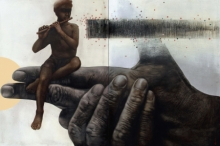 contemporary Mixed-media Art Painting title Deep Insight 2 by artist Guru Kinkar