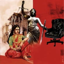 Figurative Acrylic Art Painting title Malini by artist Guru Kinkar