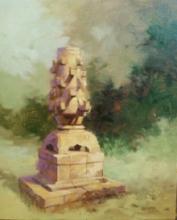 Landscape Oil Art Painting title Deepmal by artist Mohan Charya