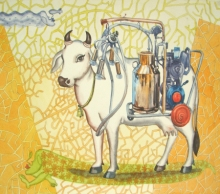 contemporary Watercolor Art Painting title One Page Of Today Dairy 2 by artist Fayyaz Khan