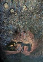 contemporary Acrylic Art Painting title Old Muziris Port by artist Thambi Sankaran
