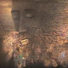 contemporary Acrylic Art Painting title Trap by artist Thambi Sankaran