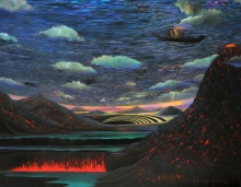 Landscape Acrylic Art Painting title Untitled 1 by artist Thambi Sankaran