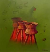 Still-life Acrylic Art Painting title Untitled 3 by artist Navnath Kshirsagar