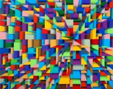 Abstract Acrylic Art Painting title Metropolis by artist Samba Biswas