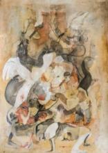 contemporary Mixed-media Art Painting title Cha - Kaku by artist Susmita Chowdhury