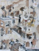 contemporary Mixed-media Art Painting title Miniature 1 by artist Susmita Chowdhury