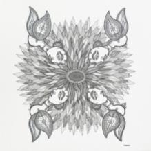 Figurative Pen-ink Art Drawing title Alluring by artist Subhendu Ghosh