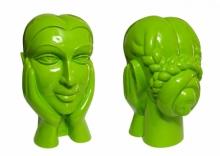 Paint on Fiberglass Sculpture titled 'Face 2' by artist Dvs Krishna
