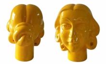 Paint on Fiberglass Sculpture titled 'Face 5' by artist Dvs Krishna