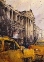 Cityscape Watercolor Art Painting title Kolkata by artist Subrata Malakar