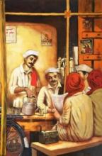 Figurative Acrylic Art Painting title Chaiwala Series 1 by artist Vijay Gille
