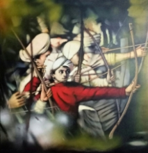 Figurative Acrylic Art Painting title Laksha 2 by artist Vijay Gille