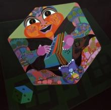 Figurative Acrylic Art Painting title Vehemence Of Inflation by artist Tanushree Chakraborty