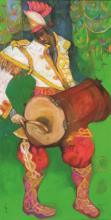 Figurative Oil Art Painting title Bandwallah 5 by artist Chandramohan Kulkarni