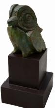 Bronze Sculpture titled 'Little Bird' by artist Atish Mukherjee