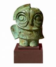 Bronze Sculpture titled 'The Owl' by artist Atish Mukherjee