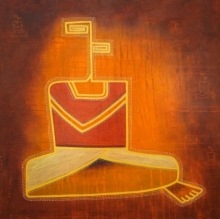 contemporary Acrylic Art Painting title Untitled 4 by artist Snehal Ekbote