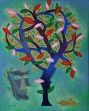 contemporary Acrylic Art Painting title Sakshi Drishta by artist Vandana Rakesh