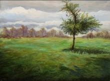 Nature Acrylic Art Painting title Tree 2 by artist Chandrashekhar P Aher