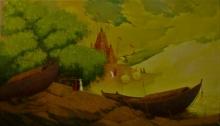 art, painting, acrylic, canvas, cityscape