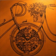 art, painting, acrylic, canvas, figurative