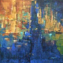 Sanjay Akolikar | Acrylic Painting title Composition 10 on Canvas | Artist Sanjay Akolikar Gallery | ArtZolo.com