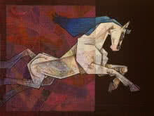 Horse - The One Who Respects Love | Painting by artist Dinkar Jadhav | acrylic | Canvas