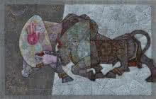 Bull - Lost In Love Mardav | Painting by artist Dinkar Jadhav | acrylic | Canvas