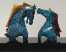 art, sculpture, fiberglass, animal, horse