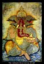 Adhipati (Ganpati) | Painting by artist Mrs. Sushama Gode | oil | Canvas