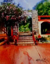 Landscape Watercolor Art Painting title Painting No 03 Water Color On Acid Free by artist Hamlet Shougrakpam