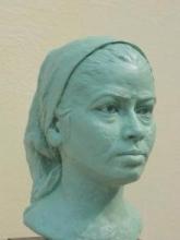 Portrait Of My Wife Sunita | Sculpture by artist Hiralal Rajasthani | Fiber Glass