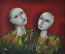 Huma Hussain | Oil Painting title Balance Of Life on Canvas | Artist Huma Hussain Gallery | ArtZolo.com