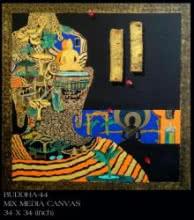 Buddha 44   Painting by artist Anurag Jadia   mixed-media   Canvas