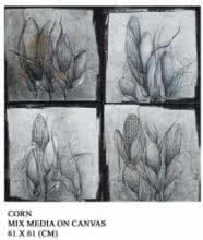 Food Pencil Art Drawing title 'Corn' by artist Trapti Gupta
