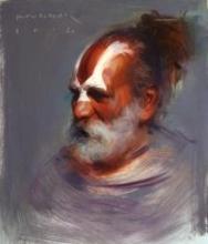 Sage | Painting by artist Pramod Kurlekar | oil | Canvas