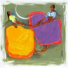 Figurative Acrylic Art Painting title 'Phugadi' by artist Sardar Jadhav