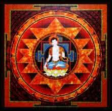 Figurative Acrylic Art Painting title 'Spiritual Buddha' by artist Ajay Meshram