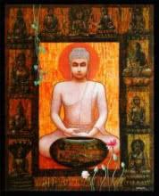 Buddha II | Painting by artist Ajay Meshram | acrylic | Canvas