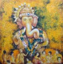 Ganesh Ganapati | Painting by artist Anirban Seth | acrylic | Canvas Board